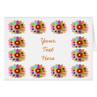 HappyDance Flower : Blank to add your text n image Cards