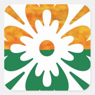 HappyDance Flower : Enjoy n Share the Joy Square Sticker