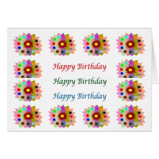 HappyDance Flower : HappyBirthday Happy Birthday Greeting Card