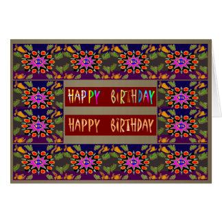 HappyDance Flowers : HappyBirthday Happy Birthday Card