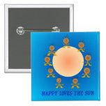 HappyFace ama los botones de los niños de Sun> Pin