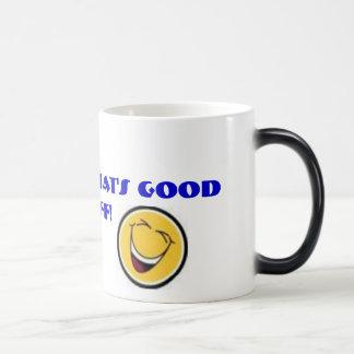 happyface, happyface, MmMmM….¡ése es buen material Tazas De Café