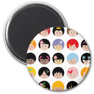 HappyFacesAll 2 Inch Round Magnet