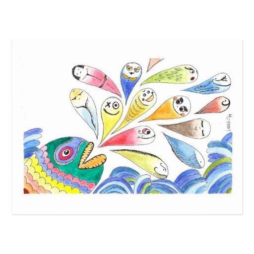 HappyFish Postcard