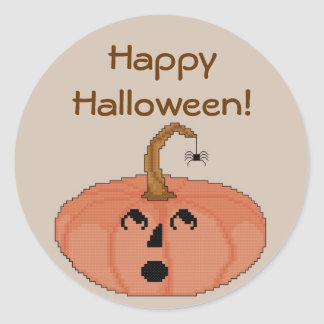 HappyHalloween! Pumpkin Stickers