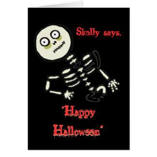 """happyhalloweenskellie, """"feliz Halloween"""", """"Happ… Tarjeta De Felicitación"""