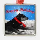 happyholidays-perro ornamento para arbol de navidad