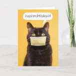 HappyMother's Day Funny Cat in Face Mask Humor Holiday Card
