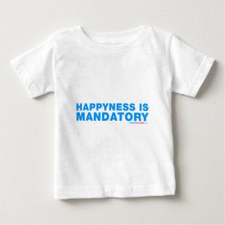 Happyness es obligatorio playera de bebé