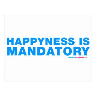 Happyness Is Mandatory Postcard