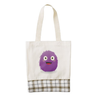 HappyRoundish Furry Creature Zazzle HEART Tote Bag