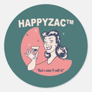 Happyzac™ Classic Round Sticker