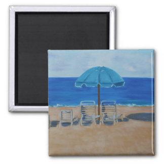 """Hapuna Beach Hawaii"" 2 Inch Square Magnet"