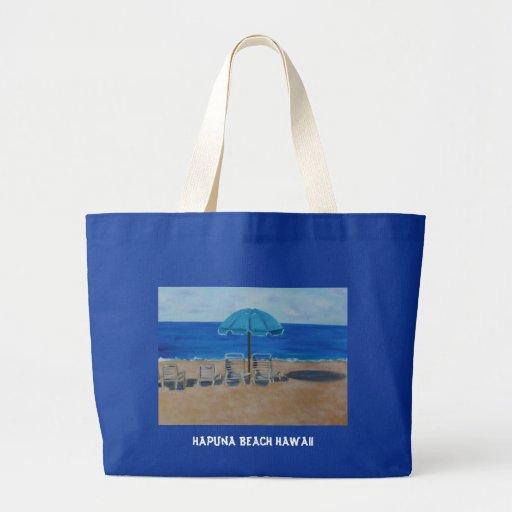 HAPUNA BEACH HAWAII JUMBO TOTE BAG