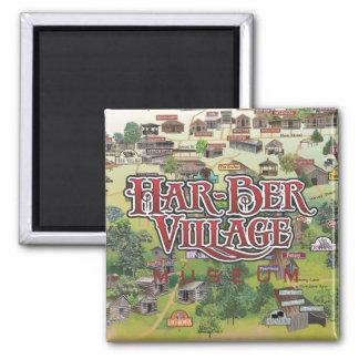 Har-Ber Village Museum map magnet