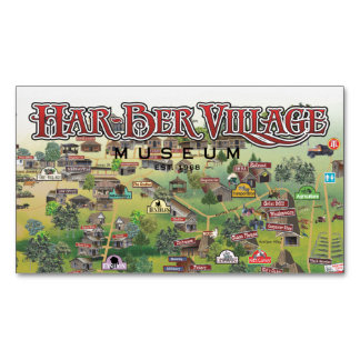 Har-Ber Village Museum Map magnet 15c