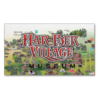 Har-Ber Village Museum Map magnet 15d