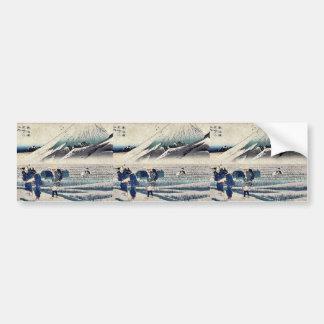 Hara by Ando, Hiroshige Ukiyoe Bumper Sticker
