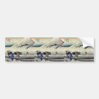 Hara por Ando, Hiroshige Ukiyoe Pegatina Para Auto