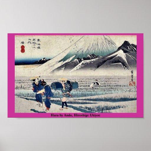 Hara por Ando, Hiroshige Ukiyoe Posters