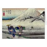 Hara por Ando, Hiroshige Ukiyoe Tarjeton
