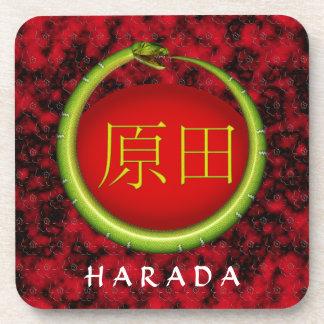 Harada Monogram Snake Beverage Coasters
