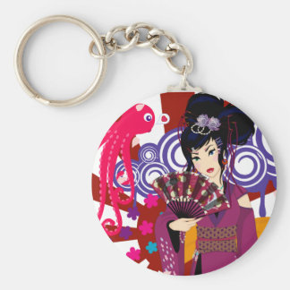 Harajuku Girl Ayaka Basic Round Button Keychain