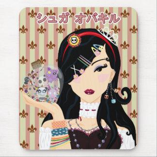 Harajuku Girl Mayumi - Katakana Mouse Pad