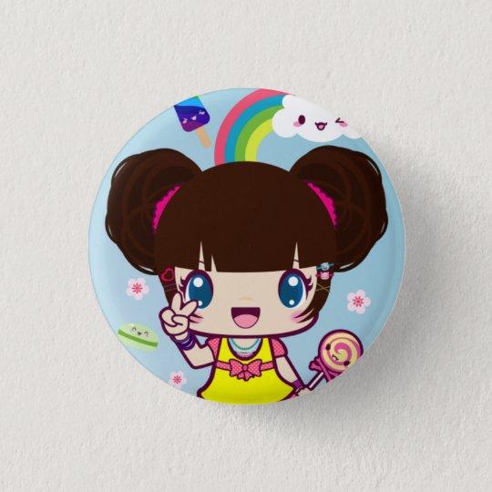 Harajuku Girl Yuriko Pinback Button