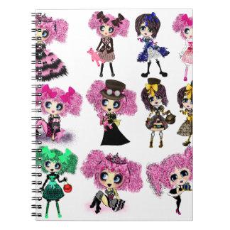 Harajuku Girls - Lolita fashionistas Notebooks