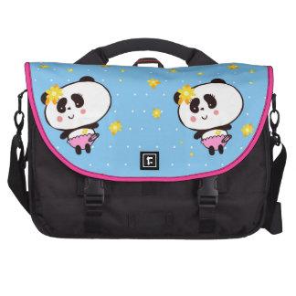 Harajuku Pandas fashion Cute Panda Laptop Commuter Bag