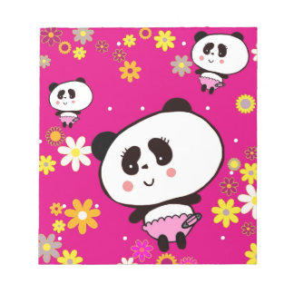Harajuku Pandas fashion Cute Panda Memo Notepads
