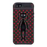 Harajuku Polka Dot Bunny in Red and Black iPhone 5 Covers