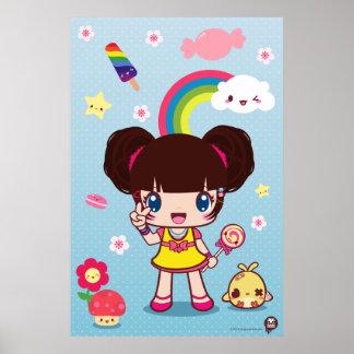 Harajuku Wamono Girl Ayaka Chibi Poster