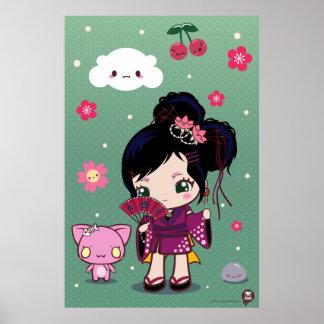 Harajuku Wamono Girl Ayaka Print