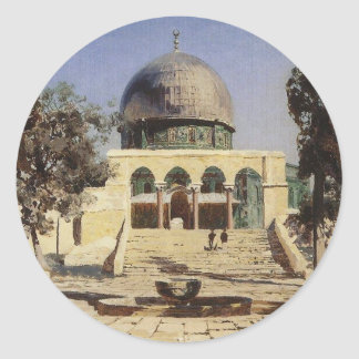 Haram Ash-Sharif - the square where the ancient Classic Round Sticker