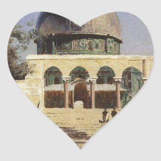 Haram Ash-Sharif - the square where the ancient Heart Sticker
