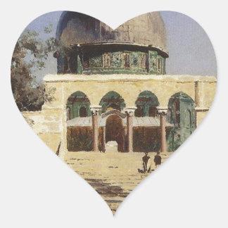 Haram Ash-Sharif - the square where the ancient Heart Sticker