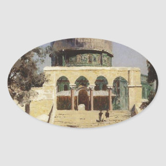 Haram Ash-Sharif - the square where the ancient Oval Sticker