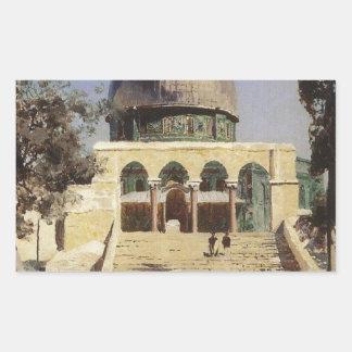 Haram Ash-Sharif - the square where the ancient Rectangular Sticker