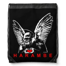 Harambe Drawstring Bag