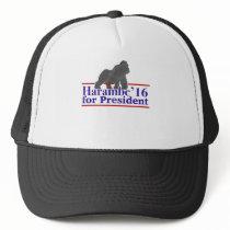 Harambe for President 2016 Funny Meme Trucker Hat