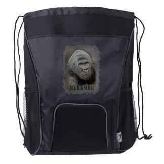 Harambe (Graphite Drawing) Drawstring Backpack