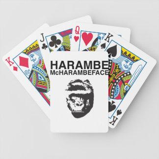 Harambe McHarambeface Bicycle Playing Cards