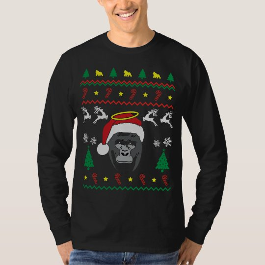 harambe ugly christmas sweater