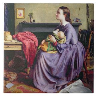 Harán al señor, Thy, 1855 (el aceite en lona) Azulejo Cuadrado Grande