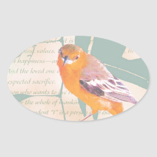 HARBINGER OF SPRING OVAL STICKER
