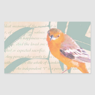 HARBINGER OF SPRING RECTANGULAR STICKER