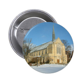 Harbison Chapel in Winter at Grove City College Button