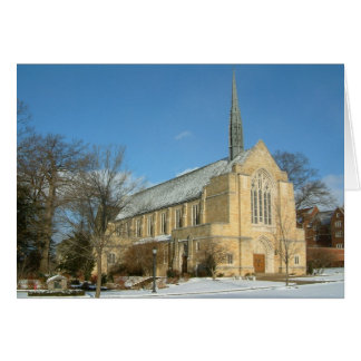 Harbison Chapel in Winter at Grove City College Card
